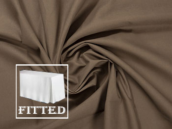 "4FT Premium Cotton Rectangular Fitted Tablecloth 30""x48""x29"" with inverted Pleates"