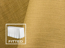 6FT Premium Extreme Faux Burlap Fitted Tablecloth with Inverted Pleats