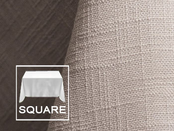 "120"" X 120"" Square Premium Extreme Faux Burlap Tablecloth"