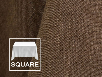 "45"" X 45"" Square Premium Extreme Faux Burlap Tablecloth"