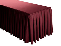 Premium Faux Burlap Box Pleat Table Skirt - 6FT  (3 Sides Covered) - 11FT Section
