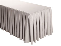 Premium Faux Burlap Box Pleat Table Skirt - 6FT  (4 Sides Covered) - 17FT Section