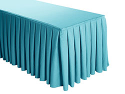 Premium Faux Burlap Box Pleat Table Skirt - 8FT  (3 Sides Covered) - 13FT Section