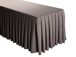 Premium Faux Burlap Box Pleat Table Skirt - 8FT  (4 Sides Covered) - 21FT Section