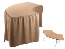Premium Faux Burlap Serpentine Tablecloth (6030 Model)