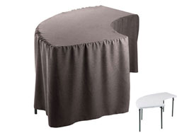 Premium Faux Burlap Serpentine Tablecloth (6630/3096 Model)