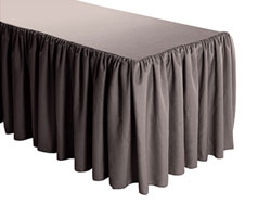 Premium Faux Burlap Shirred Table Skirt - 6FT  (4 Sides Covered) - 17FT Section