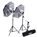600 Watt Professional Photography Photo Video Portrait Studio Kit in Black/Silver