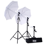 600 Watt Professional Photography Photo Video Portrait Studio Kit in White