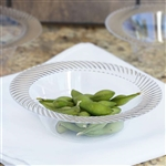10 Pack - Clear 6oz Round Disposable Bowl - Twirl Collection