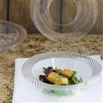 10 Pack - Clear 12oz Round Disposable Bowl - Twirl Collection