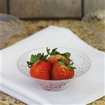 10 Pack - Clear 4.5oz Round Disposable Bowl - Basketweave Collection