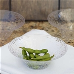 10 Pack - Clear 8oz Round Disposable Bowl - Basketweave Collection