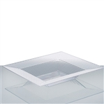 10 Pack - Clear 12oz Square Disposable Bowl - Honeycomb Collection