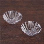 25 Pack - Clear Mini Seashell Dessert 1.5oz Disposable Bowl