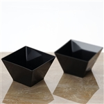 12 Pack - Black Innovative Square 14oz Disposable Bowl