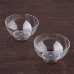 12 Pack - Clear Petite Round 4oz Disposable Dessert Bowl