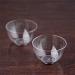 24 Pack - Clear Mini Petite Round 2oz Disposable Dessert Bowl