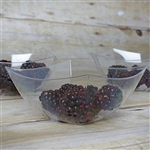 12 Pack - Clear Curved Square 8oz Disposable Bowls   - Chambury Plastics