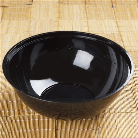 4 Pack - Black Round 4qt Disposable Serving Bowl   - Chambury Plastics