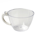 6oz Clear Disposable Coffee Cup with Handle For Wedding Party Event Dinnerware - Pack of 12