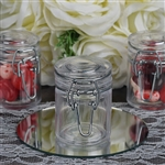 Plastic Clear Containers Candy Beverage Favor Jar with Flip Lid – Set of 12