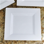 "10 Pack - White 9.5"" Square Disposable Plate - Sorrentine Collection"