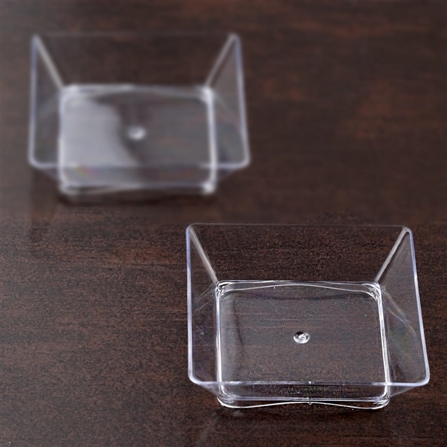 50 Pack - Clear 2.25\  x 2.25\  Appealing Mini Square Disposable Dessert Plate & Buy Disposable Dessert Plates | Bulk Pricing Tableware