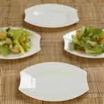 "10 Pack - Ivory 6"" Crescent Oval Shaped Disposable Plate  - Chambury Plastics"