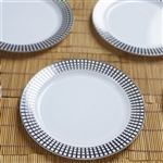 Raza Trade- Stamped Round Disposable Plates