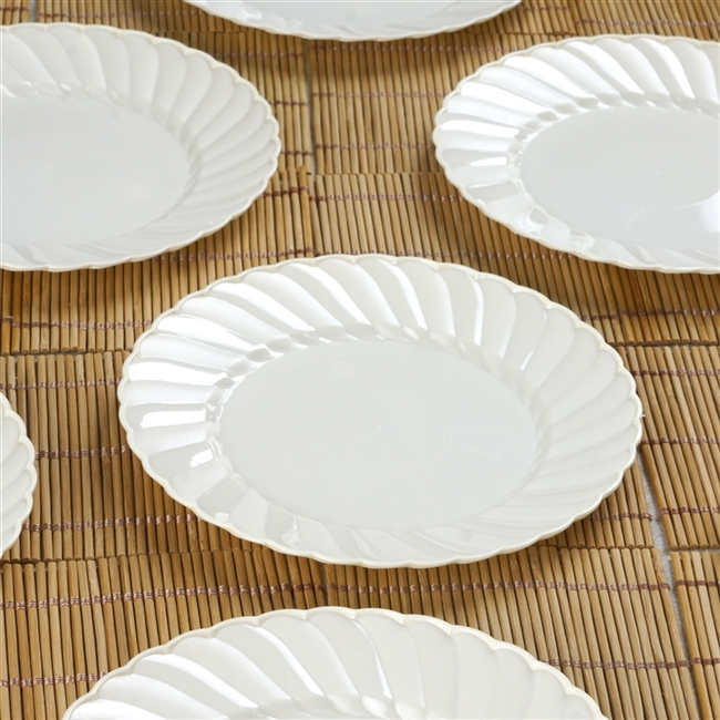 12 Pack - Ivory 6  Flaired Round Disposable Plate - Chambury Plastics & Buy Disposable Plates | Wholesale Discounted Tableware
