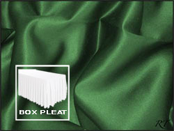 Premium Matt Satin Lamour Box Pleat Table Skirt - 6FT  (3 Sides Covered) - 11FT Section