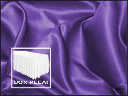 Premium Matt Satin Lamour Box Pleat Table Skirt - 6FT  (4 Sides Covered) - 17FT Section