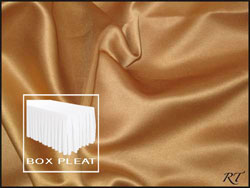 Premium Matt Satin Lamour Box Pleat Table Skirt - 8FT  (3 Sides Covered) - 13FT Section