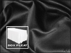 Premium Matt Satin Lamour Box Pleat Table Skirt - 8FT  (4 Sides Covered) - 21FT Section