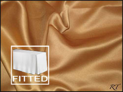 "4FT Premium Matt Satin Lamour Rectangular Fitted Tablecloth 30""x48""x29"" with Inverted Pleates"