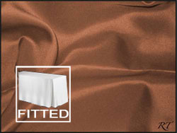 "5FT Premium Matt Satin Lamour Rectangular Fitted Tablecloth 30""x60""x29"" with Inverted Pleates"
