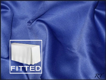 "6FT Premium Matt Satin Lamour Rectangular Fitted Tablecloth 30""x72""x29"" with Inverted Pleates"