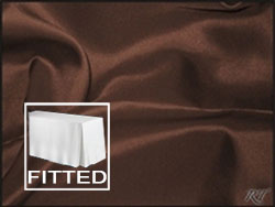 "8FT Premium Matt Satin Lamour Rectangular Fitted Tablecloth 30""x96""x29"" with Inverted Pleates"