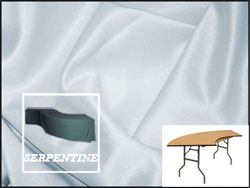 Premium Matt Satin Lamour Serpentine Tablecloth (4830 Model)