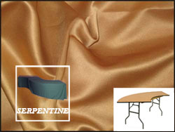 Premium Matt Satin Lamour Serpentine Tablecloth (6030 Model)