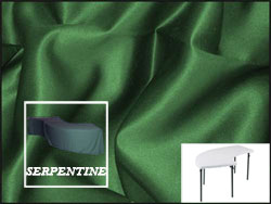 Premium Matt Satin Lamour Serpentine Tablecloth (6630/3096 Model)
