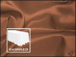 Premium Matt Satin Lamour Shirred Table Skirt - 6FT  (4 Sides Covered) - 17FT Section