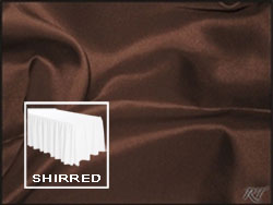 Premium Matt Satin Lamour Shirred Table Skirt - 8FT  (3 Sides Covered) - 13FT Section