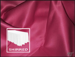 Premium Matt Satin Lamour Shirred Table Skirt - 8FT  (4 Sides Covered) - 21FT Section