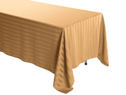 "60"" x 120"" Rectangular Polyester Stripe Tablecloth"