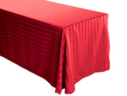 "90"" x 108"" Rectangular Polyester Stripe Tablecloth"