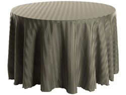 "108"" Round Polyester Stripe Tablecloth"