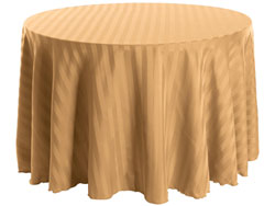 "120"" Round Polyester Stripe Tablecloth"
