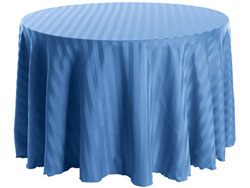 "72"" Round Polyester Stripe Tablecloth"